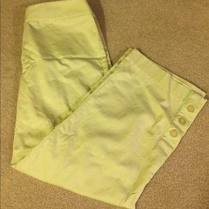 Capri pants- light lime green- Style & Company sz8